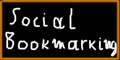 """immagine della lavagna con su scritto """"Social bookmarking"""""""