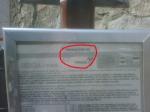 Codice della fermata del bus che è scritto sulla palina che c'è ad ogni fermata delle linee ATAF di Firenze.