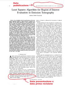 La prima pagina di un paper scientifico dove sono evidenziate le parti che descrivono la storia della pubblicazione.