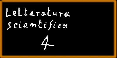 """Immagine della lavagna con su scritto: """"Letteratura scientifica 4"""""""
