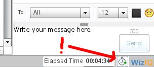 Posizione dell'icona per la determinazione della durata di una classe WiZiQ