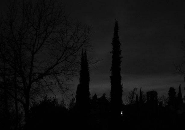 Foto di nuvole notturne
