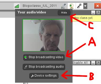 Controlli audio e video in WiZiQ