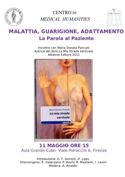 """Locandina della presentazione del libro """"La mia strada verticale"""" di Maria Donata Pancani"""