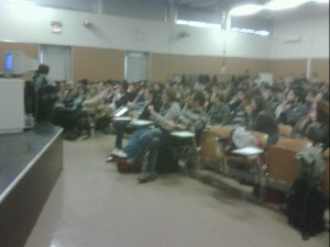 Nell'aula all'inizio di cin@med