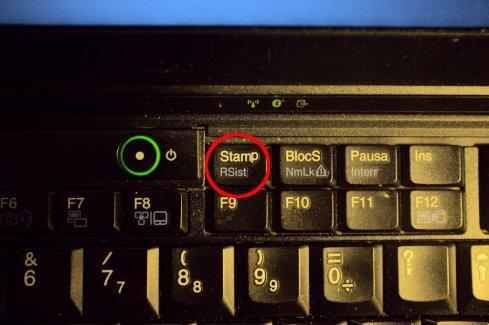 """Il tasto """"Stamp-RSist"""" sun un altro laptop ancora"""