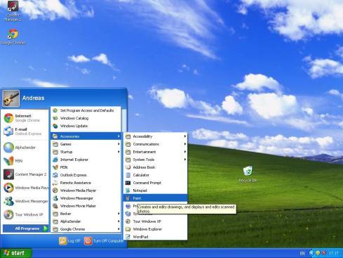 Screenshot dell'intero Desktop fatto con il tasto Stamp