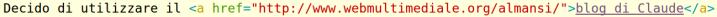 Immagine del codice HTML di un link