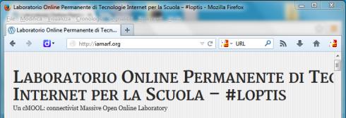 Sezione del browser con la casella per l'indirizzo URL: caso firefox 23 in windows 7