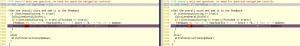 confronto fra il codice di due quiz generati con il sistema hot potatoes