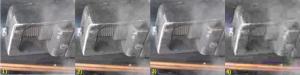 confronto del particolare di un'immagine: originale alta risoluzione, con compressione jpeg aggressiva, con riduzione della risoluzione del 20%, con ambedue i trattamenti, da sinistra a destra rispettivamente