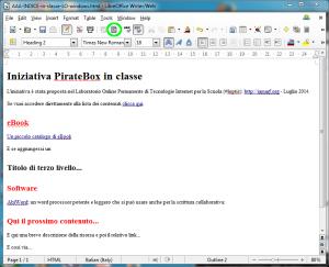 pulsante per passare al codice html